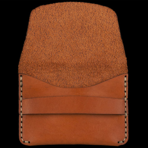 Flap Slim Wallet in Saddle Tan