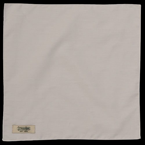 2 Ply Pin Point Pocket Square in White