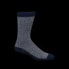 Anonymous Ism - Wool Herringbone Crew Sock in Navy