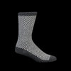 Anonymous Ism - Wool Herringbone Crew Sock in Charcoal