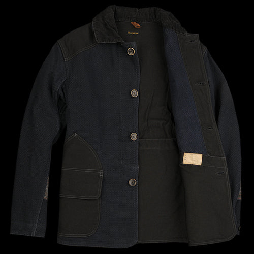 Canvas Kendo Hunting Jacket in Indigo
