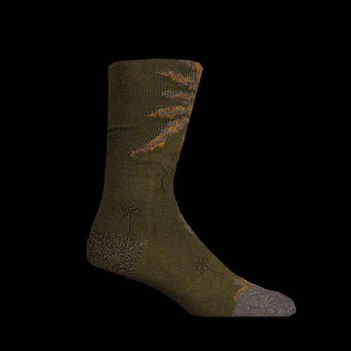 Palm Tree Socks in Khaki