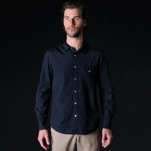 Poplin Work Shirt in Navy