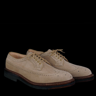 Alden - Cooper Long Wing in Milkshake Suede D3609