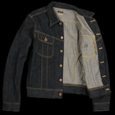 Kapital - 14oz Denim Long Westerner Jacket in One Wash