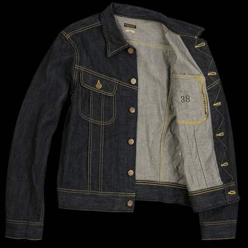 14oz Denim Long Westerner Jacket in One Wash