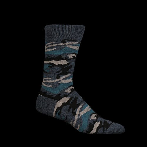 Melange Camo Sock in Blue