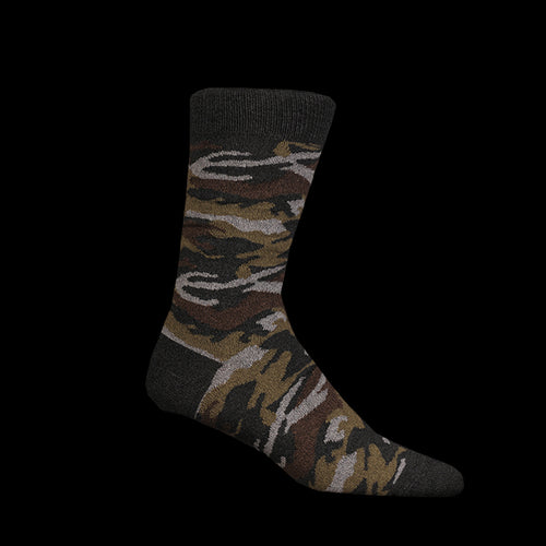 Melange Camo Sock in Charcoal
