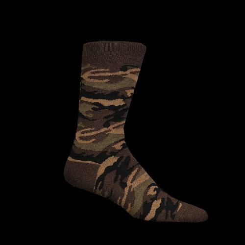 Melange Camo Sock in Olive
