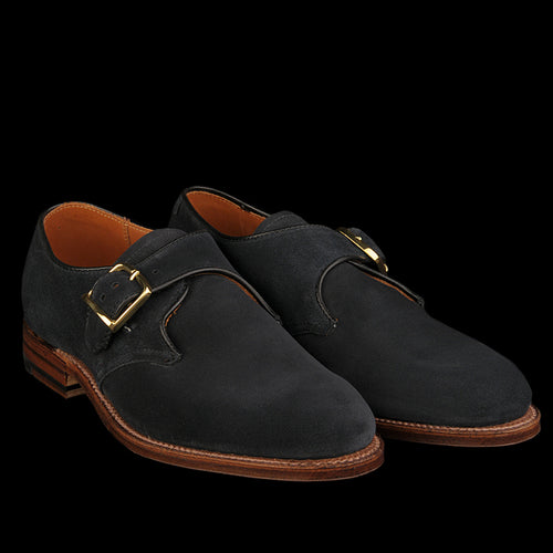Allen Monk Strap in Navy Suede 15770F