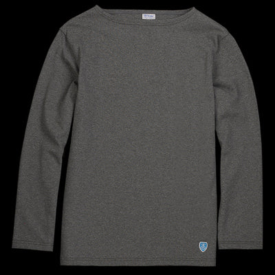 Orcival - Long Sleeve Tee in Heather Grey
