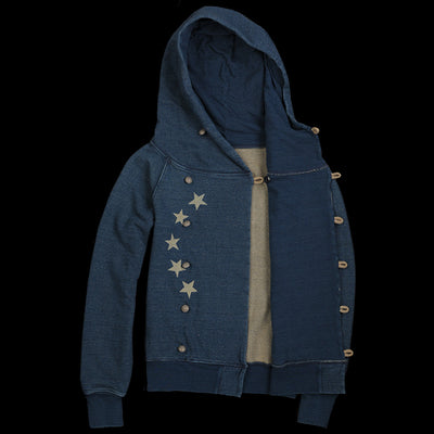 Kapital - Fleece Betsy Ross Sweatshirt in Indigo