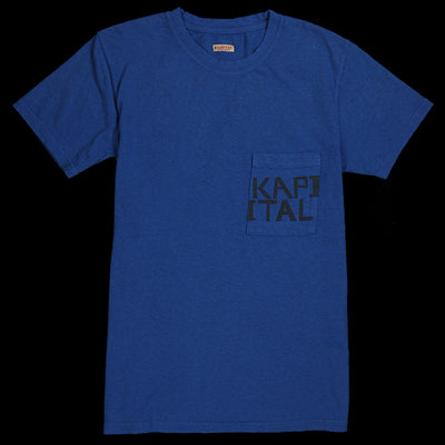 Kapital - Jersey Pocket Tee in Blue