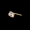 Kristen Elspeth - Single Large Herkimer Diamond Stud in 14K Gold