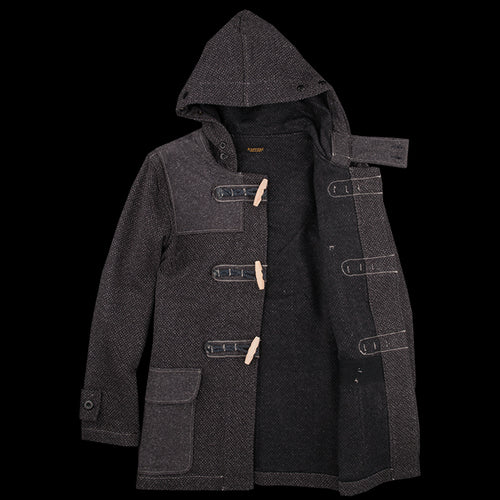 Kendo Canvas Duffle Short Coat in Charcoal