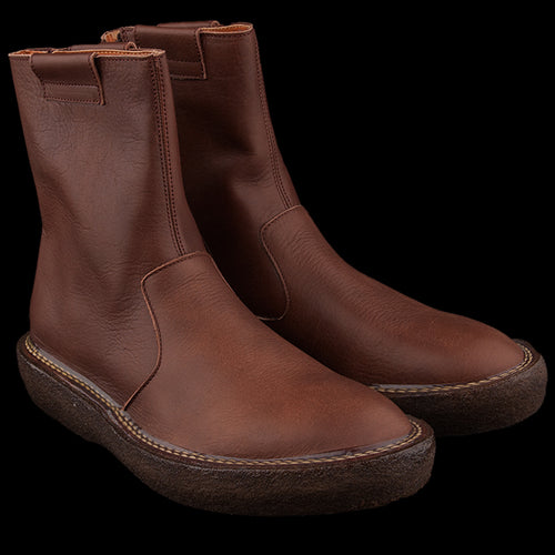 Oil Leather Popeye Boot in Brown