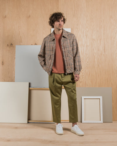 Deveaux - Cotton Twill Wyatt Pant in Loden