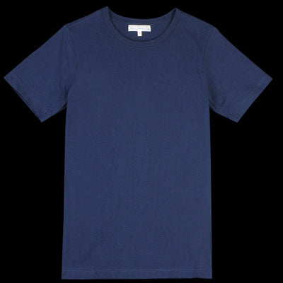 Merz b. Schwanen - 1950's Crew Neck Tee in Ink Blue