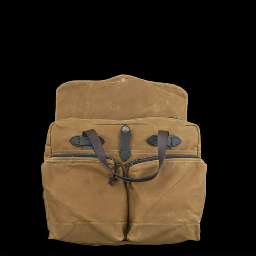 24 Hour Briefcase Tin Cloth in Tan
