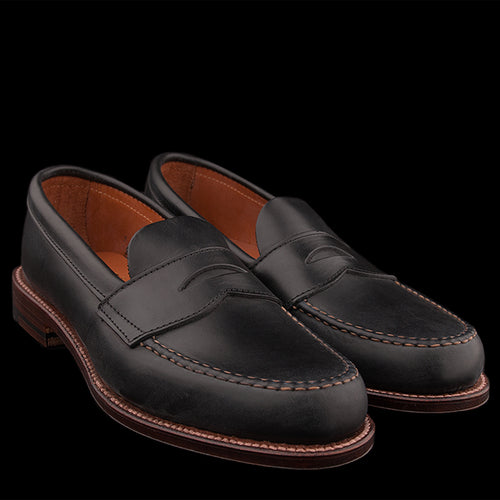 Unlined Flex Penny Loafer in Black Chromexcel 17837F