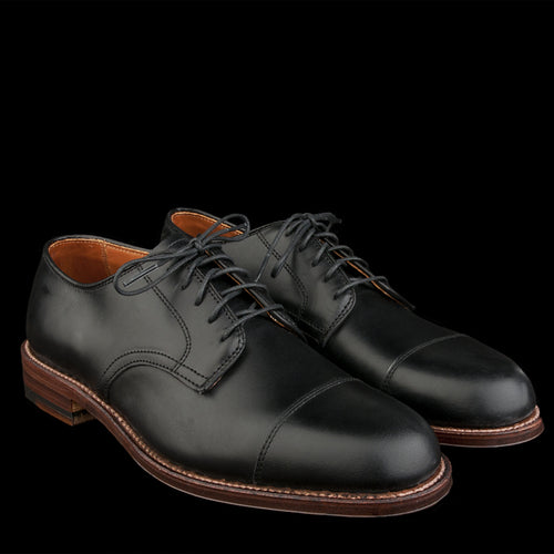 Courtland Cap Toe Dover in Black Chromexcel D5507