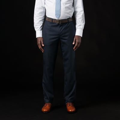 Gitman Vintage - Harrison Suit Pant in Navy Wool Oxford Weave