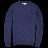 Harley of Scotland for Unionmade - Shetland Shaggy Crew Neck Sweater in Nightshade