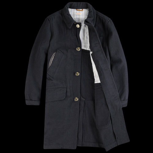 Vintage Melton BAGUETTE Chester Coat in Navy