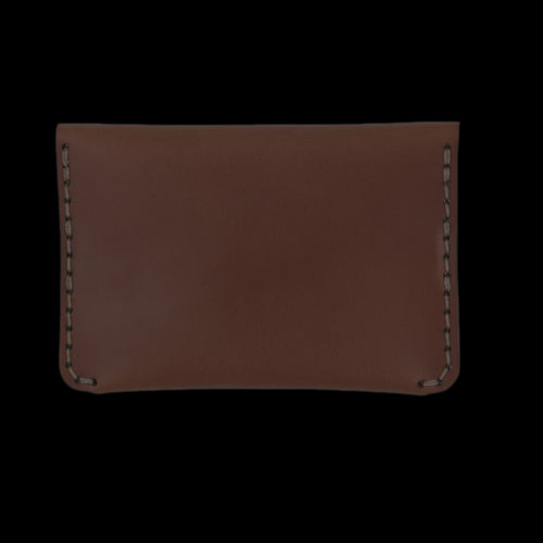 Cordovan Flap Slim Wallet in Natural