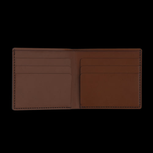 Open Billfold Wallet in Tan