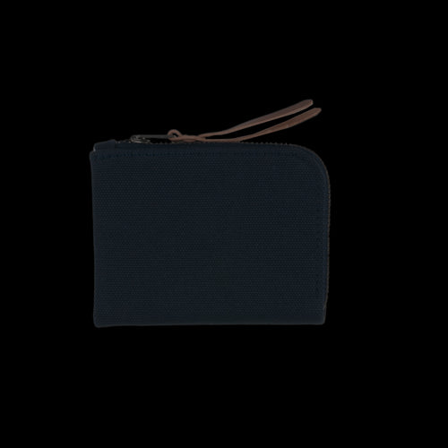 Canvas Zip Slim Wallet in Navy