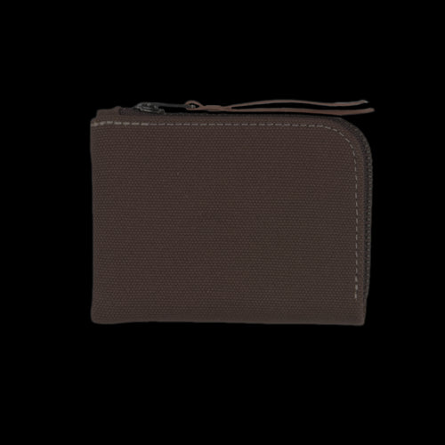 Canvas Zip Slim Wallet in Tobacco