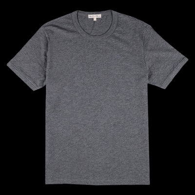 Alex Mill - Heather Standard Short Sleeve Crew in Heather Charcoal
