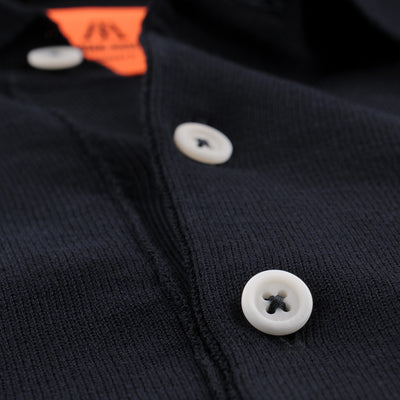 Andersen Andersen - Short Sleeve Polo in Navy