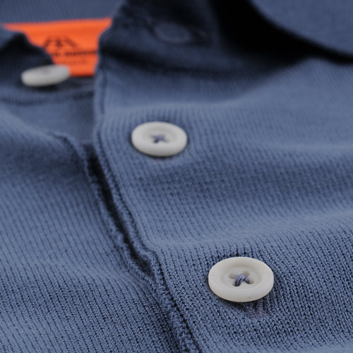 Short Sleeve Polo in Petroleum