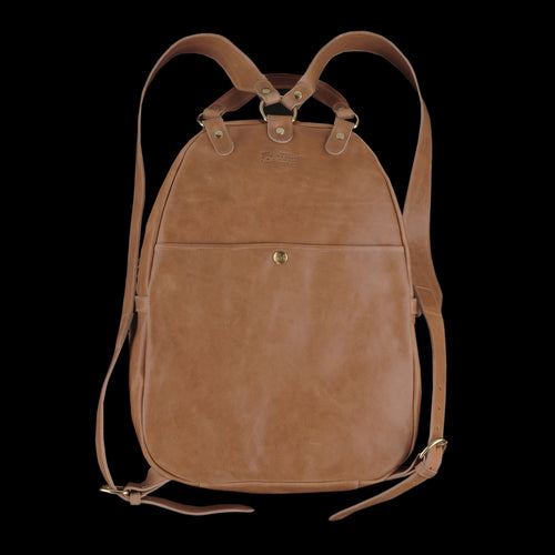 Large Backpack with Front and Open Pocket in Natural