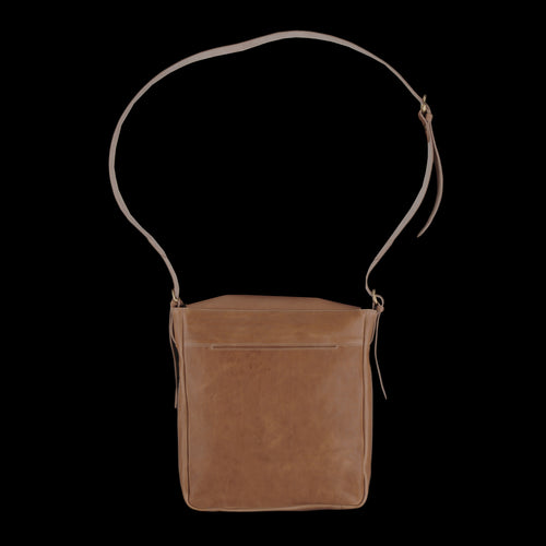 Messenger Bag with Center Back Strap in Natural