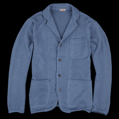 Kapital - 7G Knit Line Cardigan Jacket in Blue