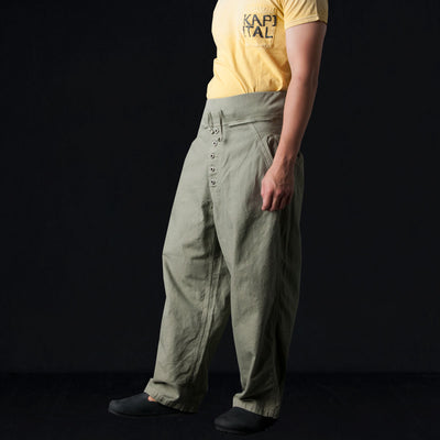Kapital - Light Canvas BUGG Nouvelle Pant in Khaki