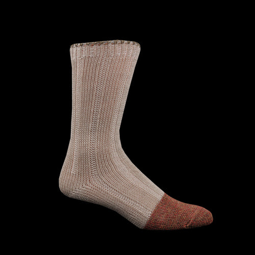 56 Yarns Linen 2 Tone Socks in Ecru