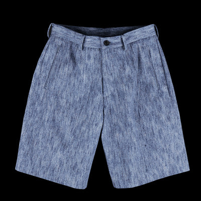 Tomorrowland - Slub Denim Straight Wide Short in Navy