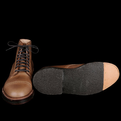 Alden - Stanyan Perforated Cap Toe Boot in Natural Chromexcel D6830D