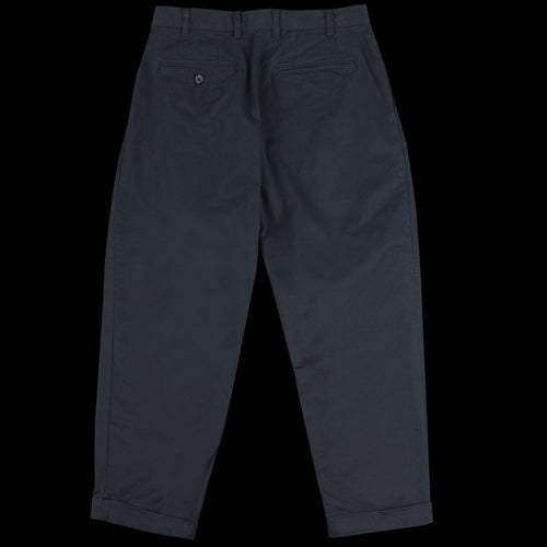Twill Two Pleat Chino in Black