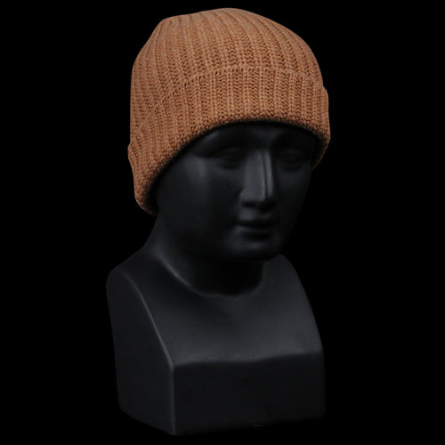 Cashmere Solid Beanie in Haystack