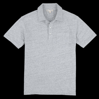 Alex Mill - Rugby Polo in Heather Grey