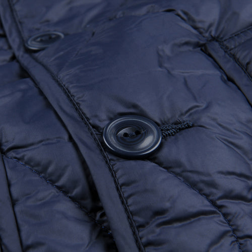 Quilted Nylon Shirt Jacket in Navy