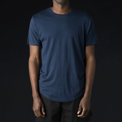 Grei. - Hand Pigment Dyed Crew in Midnight Blue