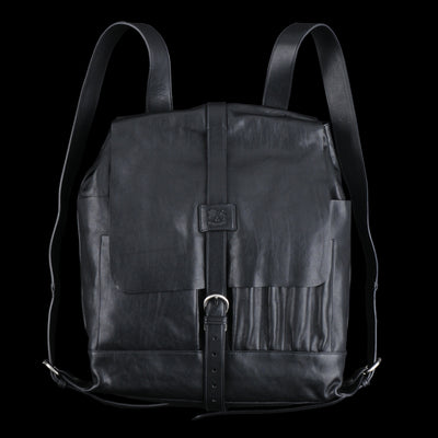 Il Bisonte - Vintage Cowhide New Inside Out Backpack in Nero and Nickel