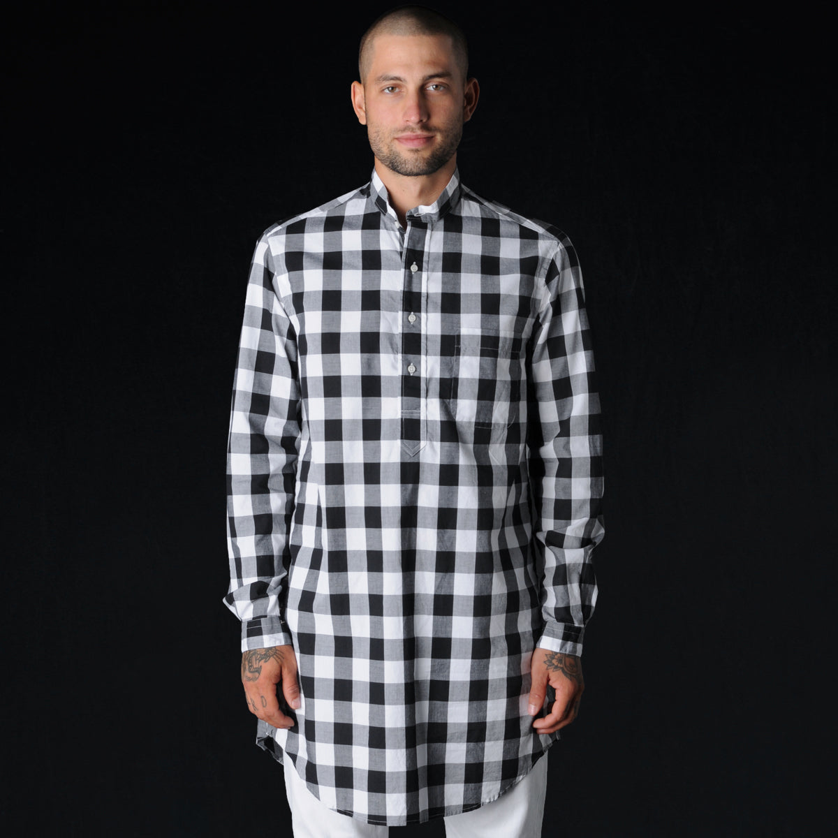Gitman Vintage Medium Gingham Long Sleeve Button Down Shirt With
