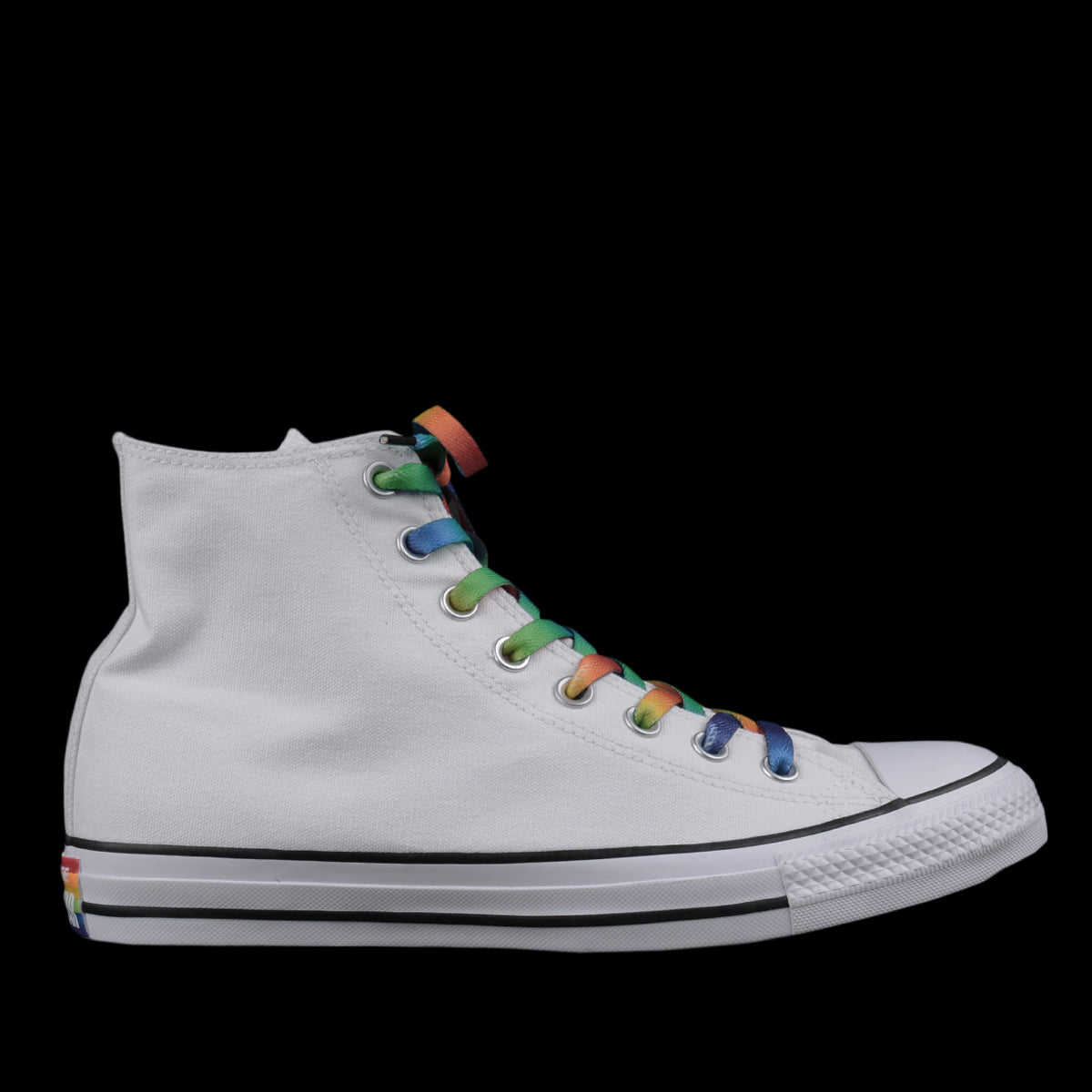 Converse - Chuck Taylor All Star Hi Pride in White and Rainbow ... 2b17d5abd